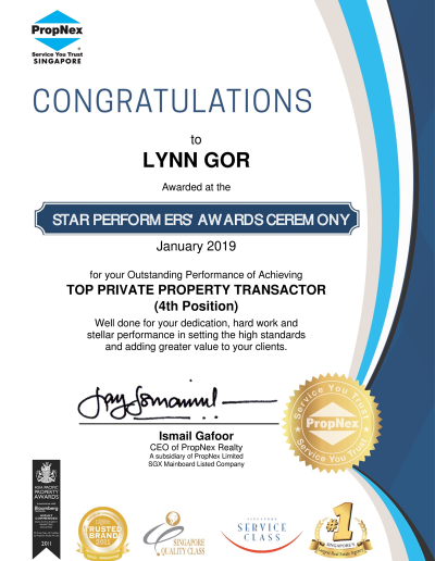 propnex-lynn-gor-top-private-property-transactor-award-jan-2019